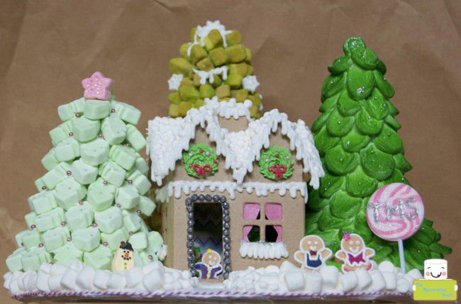 marshmallow gingerbread house by the marshmallow studio