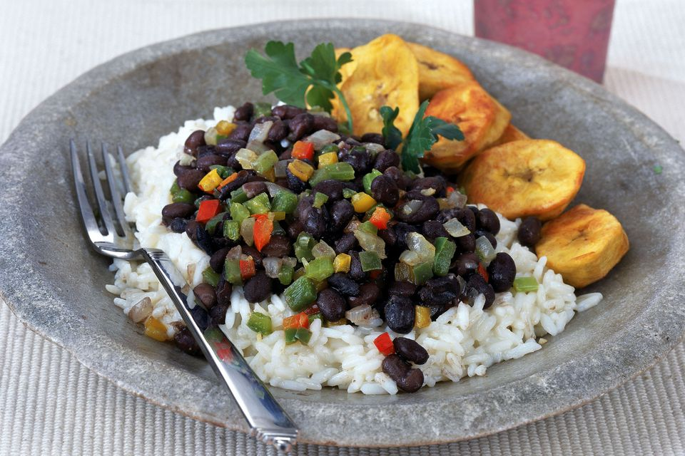 Flavorful Caribbean-style black beans and rice