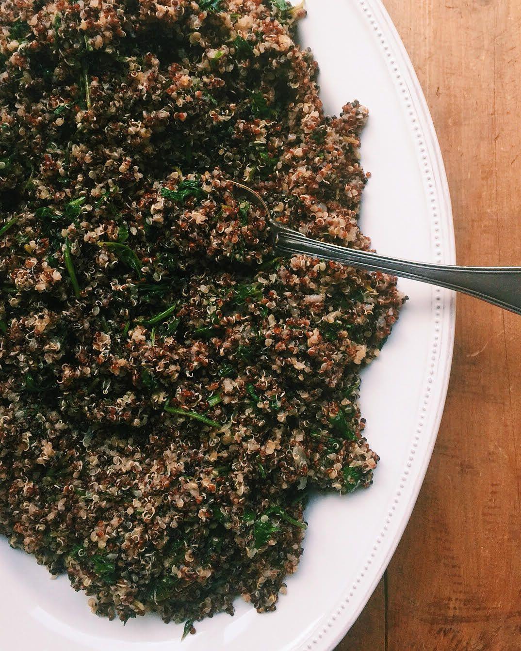 Healthy Kale Quinoa Salad Recipe