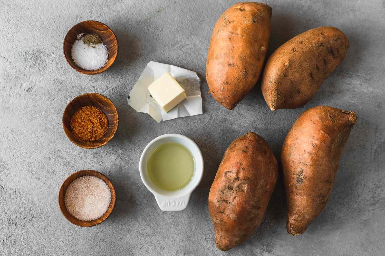 Whole Baked Sweet Potatoes ingredients