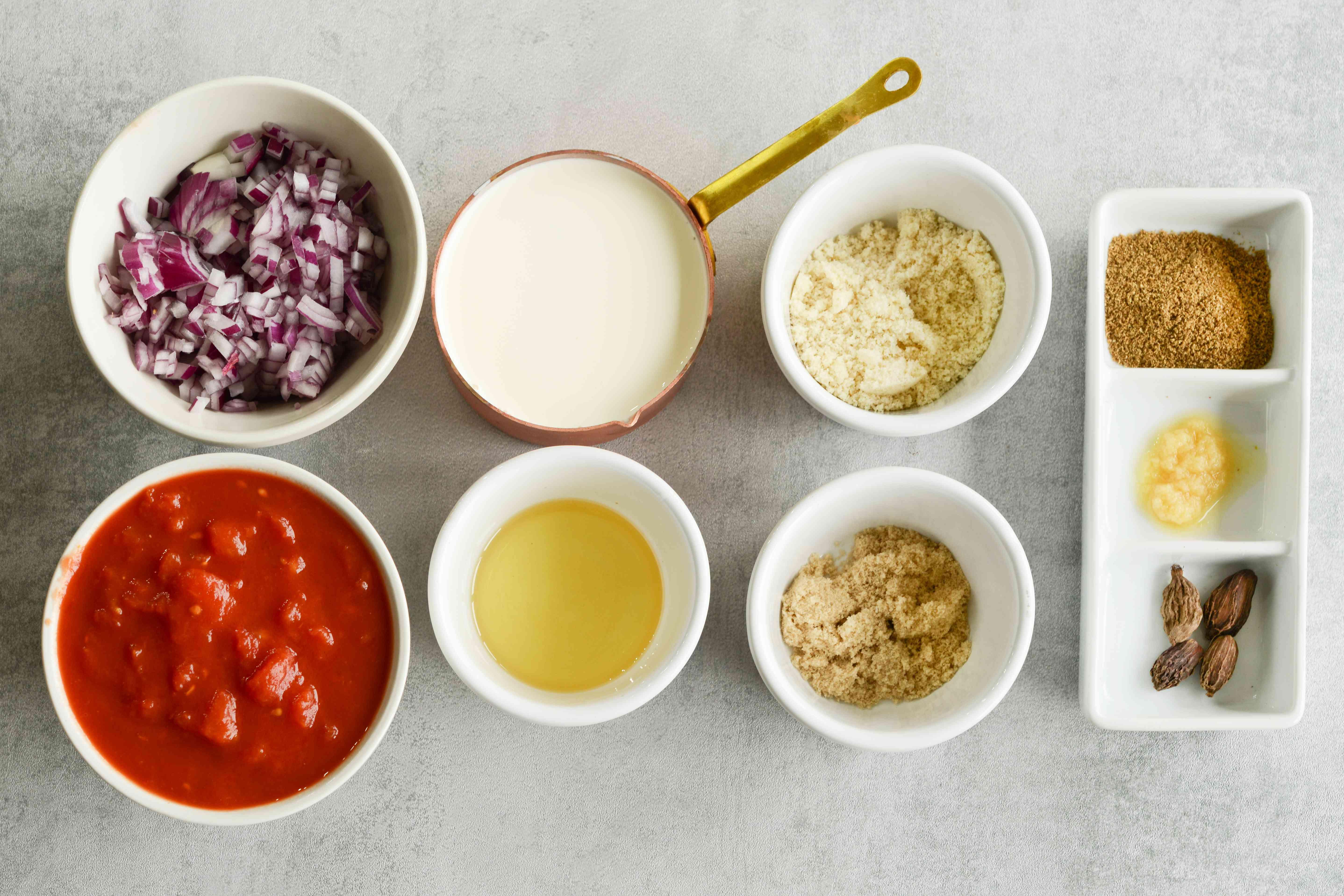 Chicken Tikka Masala ingredients for sauce