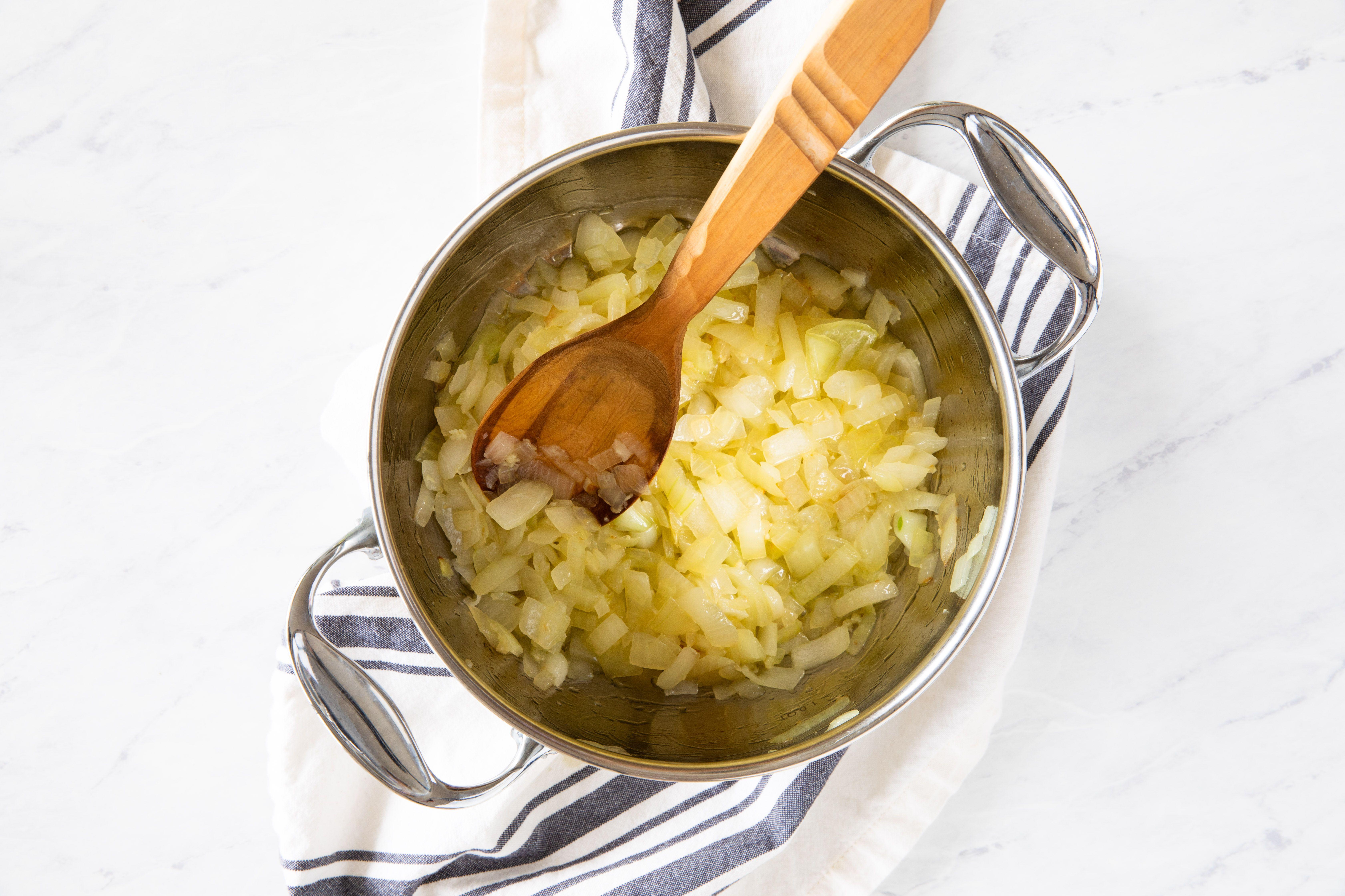 Onions in pot