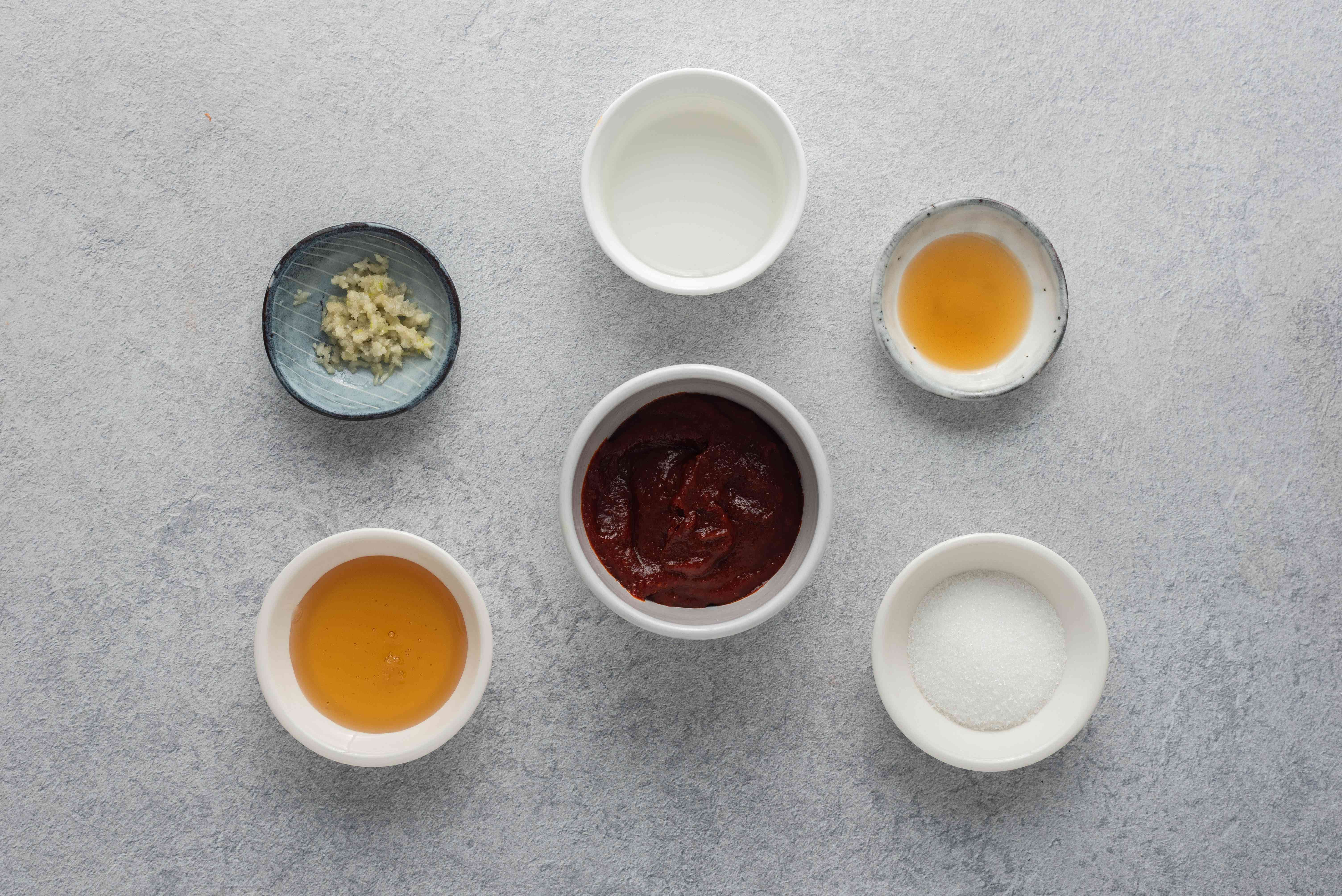 Spicy and Sweet Korean Chogochujang Dipping Sauce ingredients
