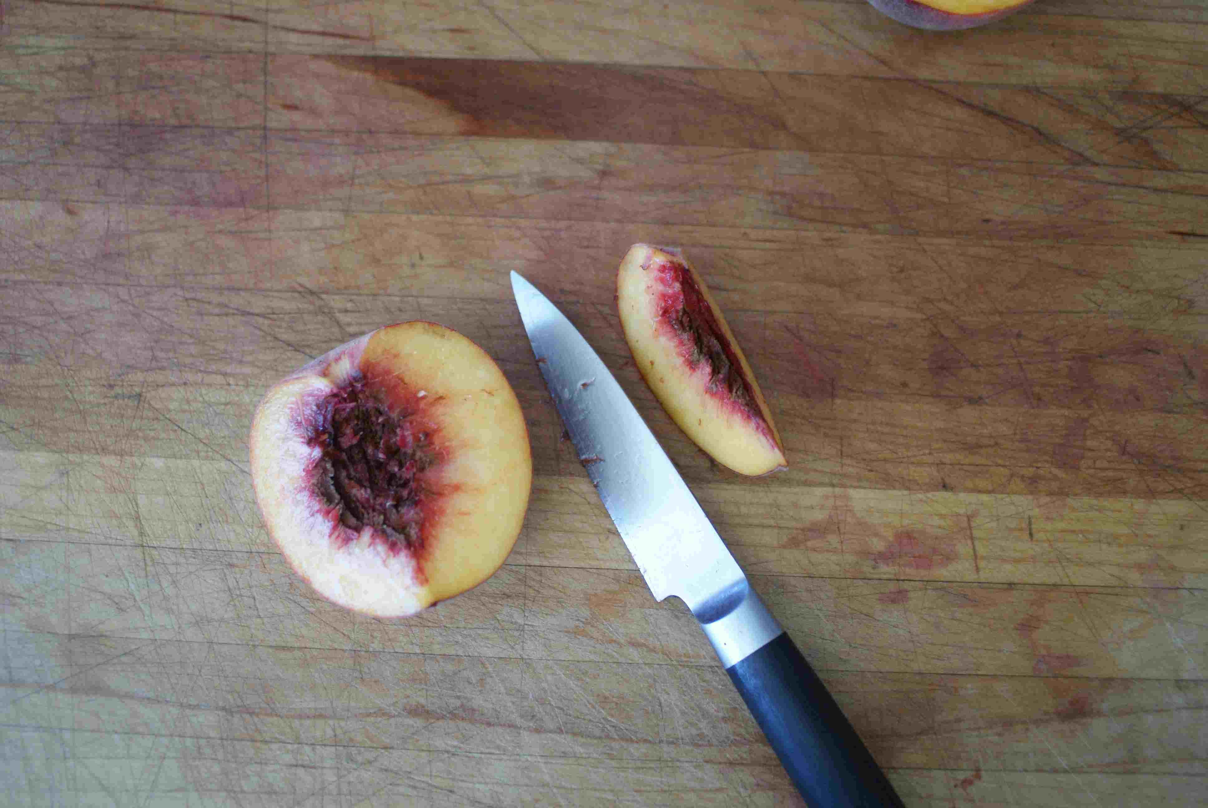 Slicing a Peach