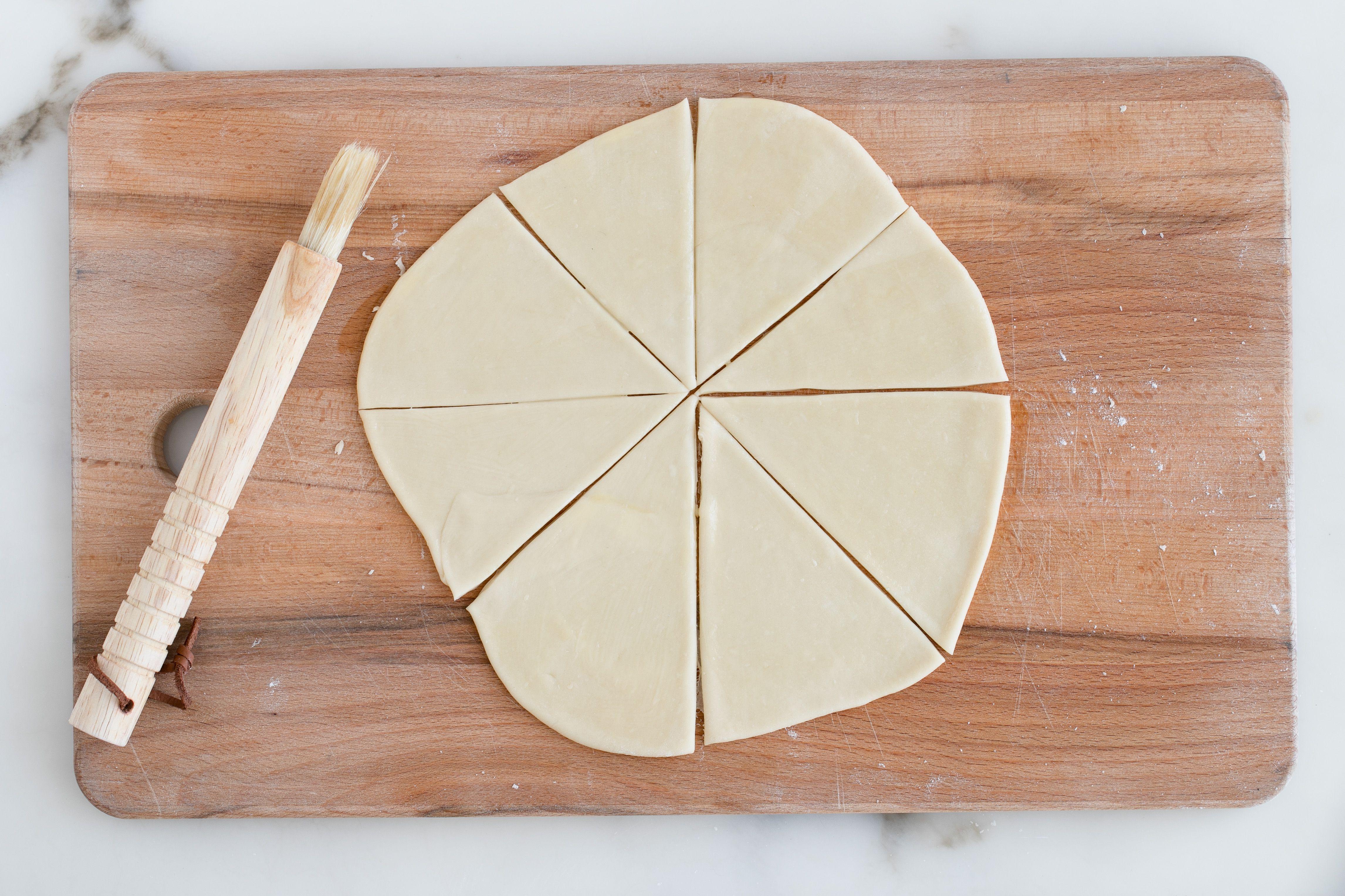 Lightly brush dough