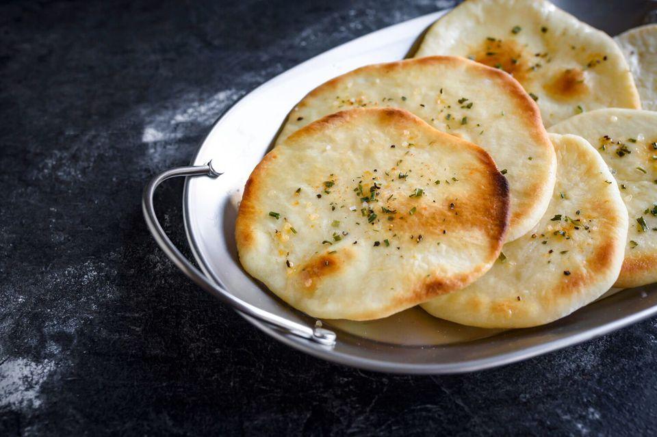 Pan de pita de Medio Oriente