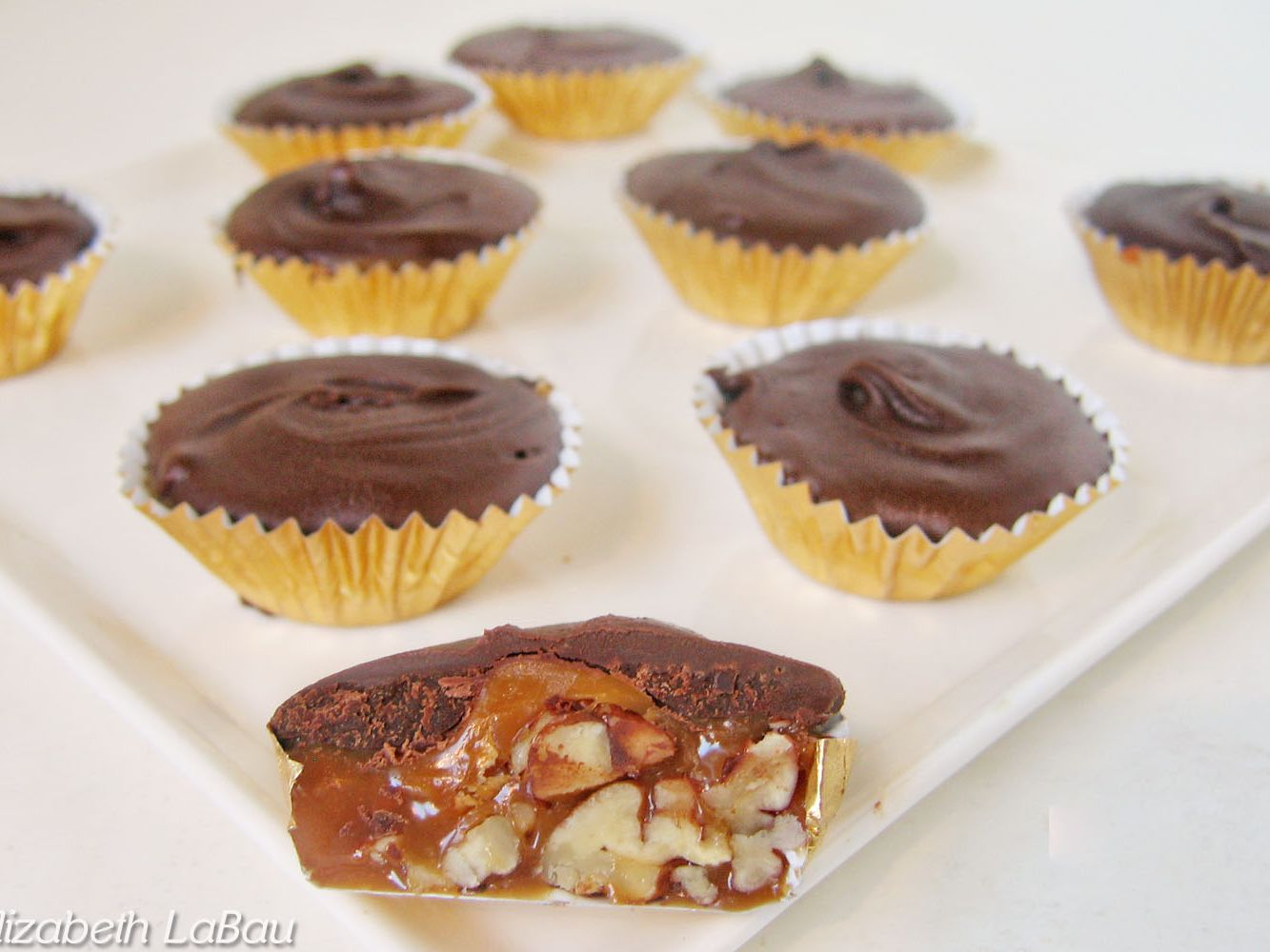 Chewy Turtle Cups Candy Recipe