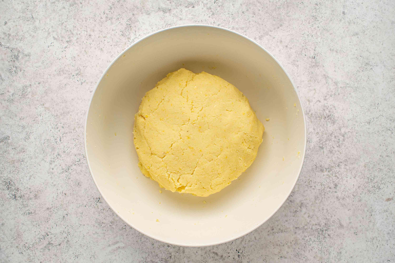 arepas dough ball in a bowl