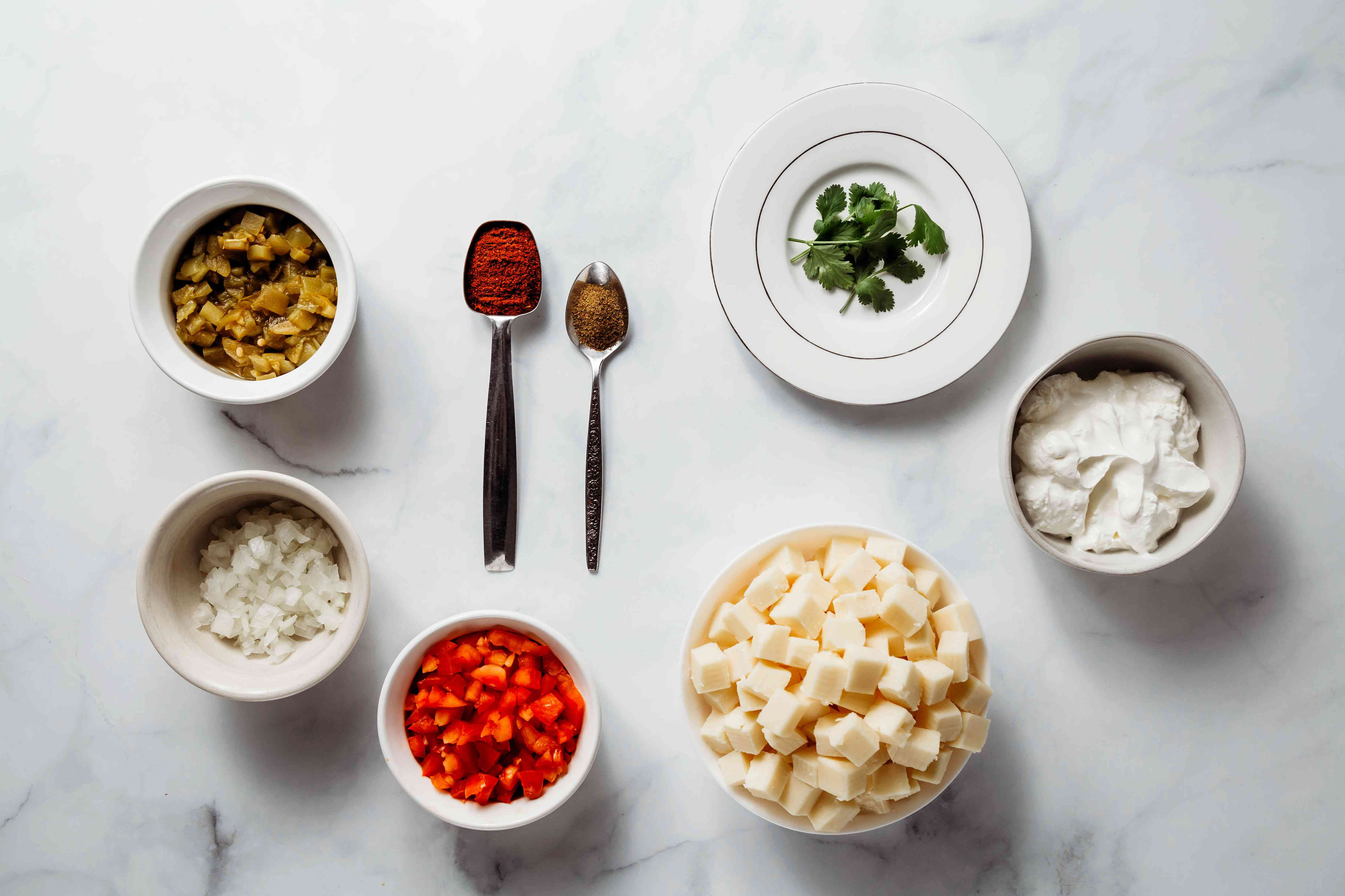 Easy and Delicious Queso Dip ingredients