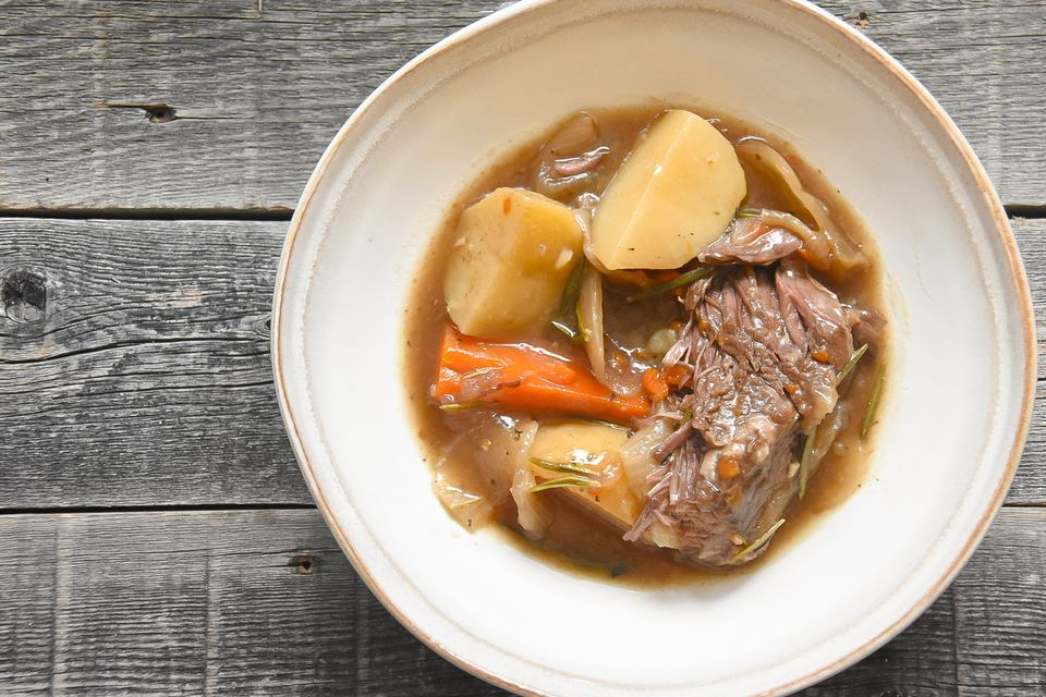 Southern Pot Roast recipe, on a plate