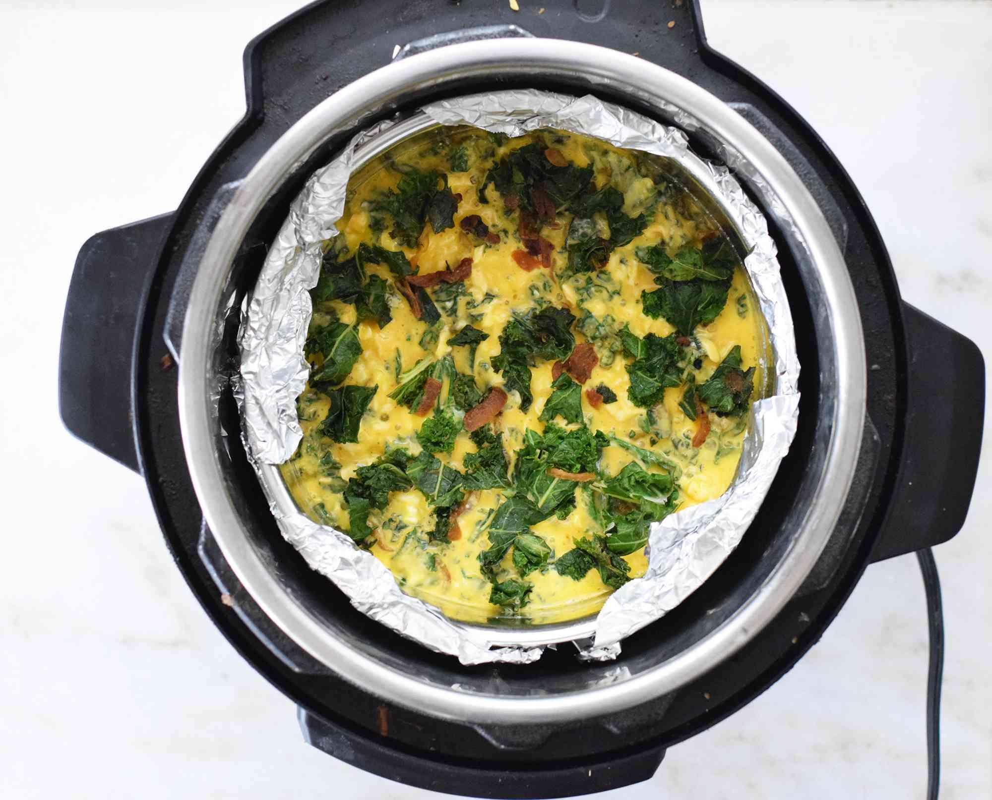 quiche inside instant pot