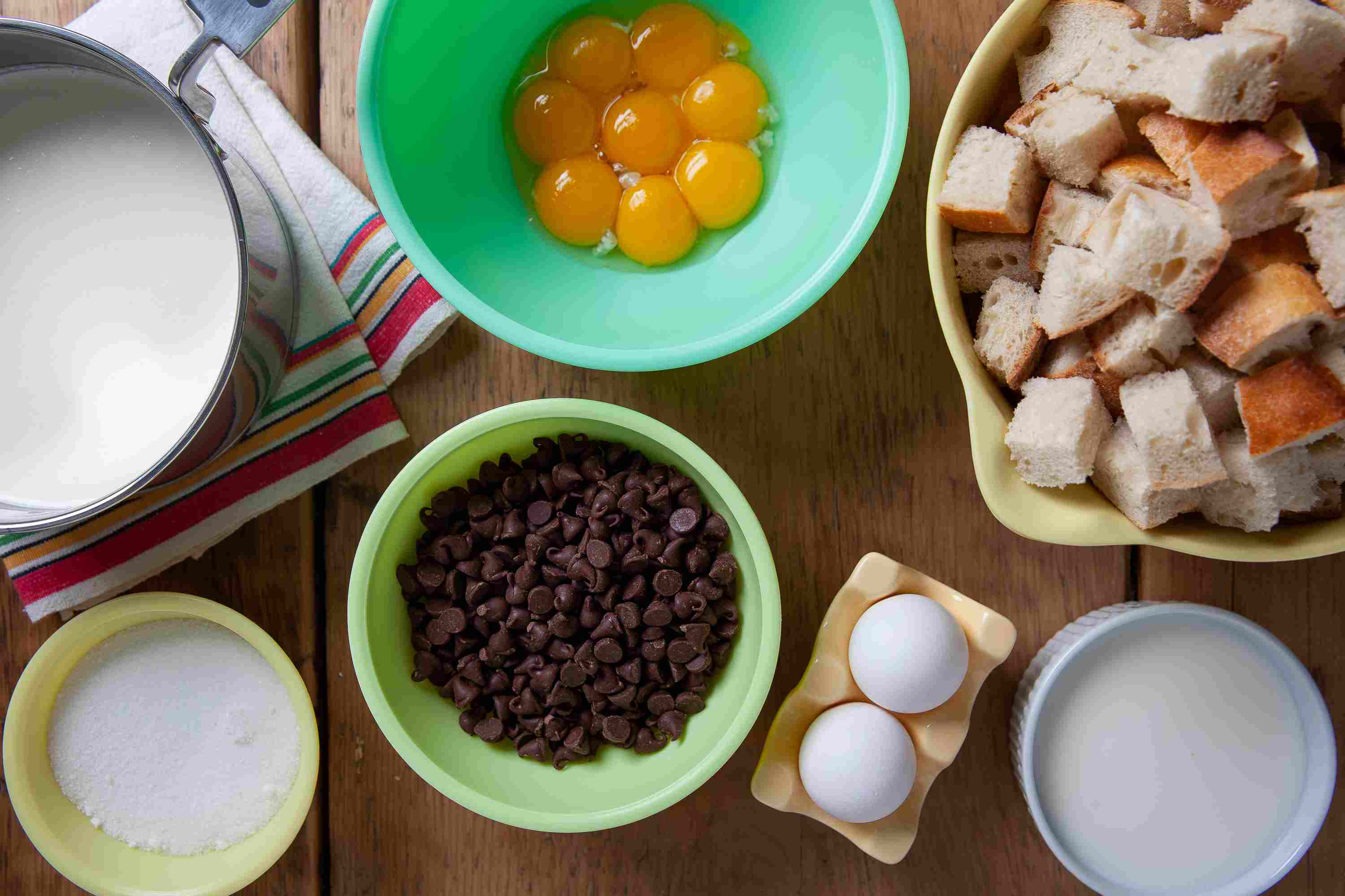 Chocolate Bread Pudding ingredients