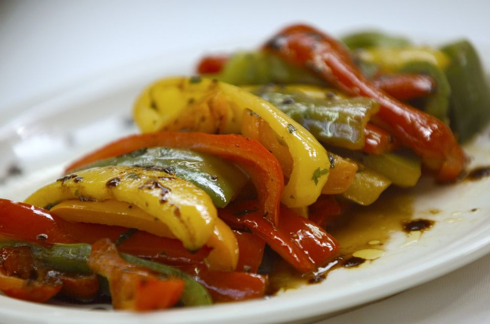 Balsamic peppers