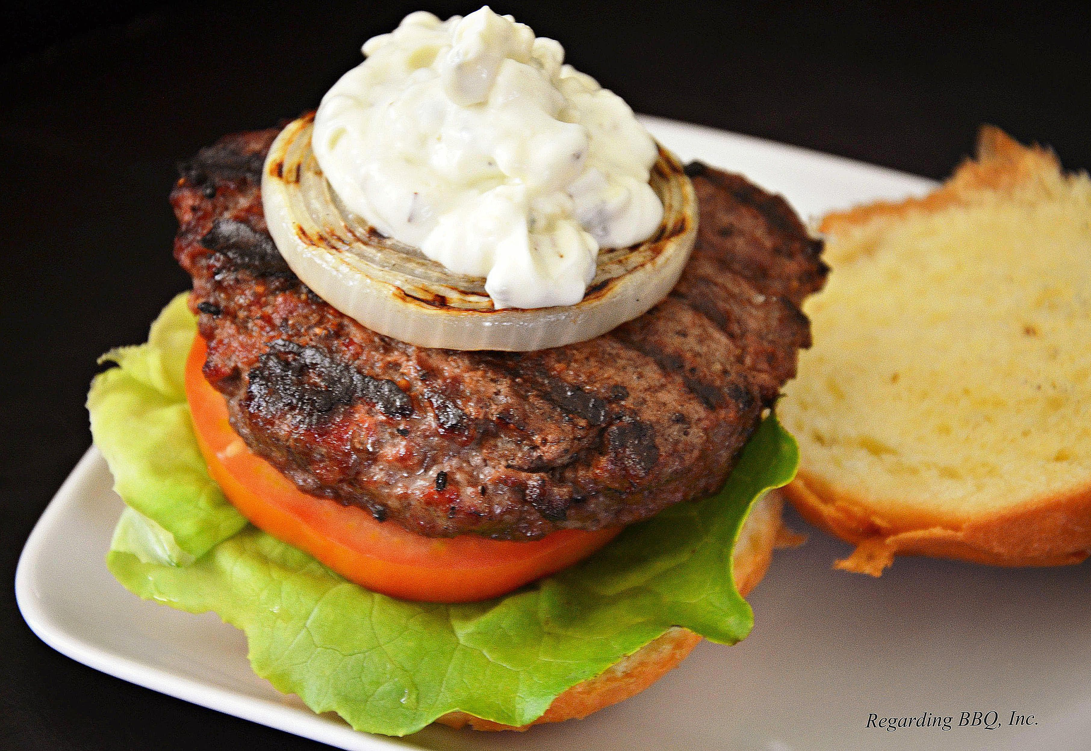 Black and Blue Burgers With Grilled Vidalia Onions