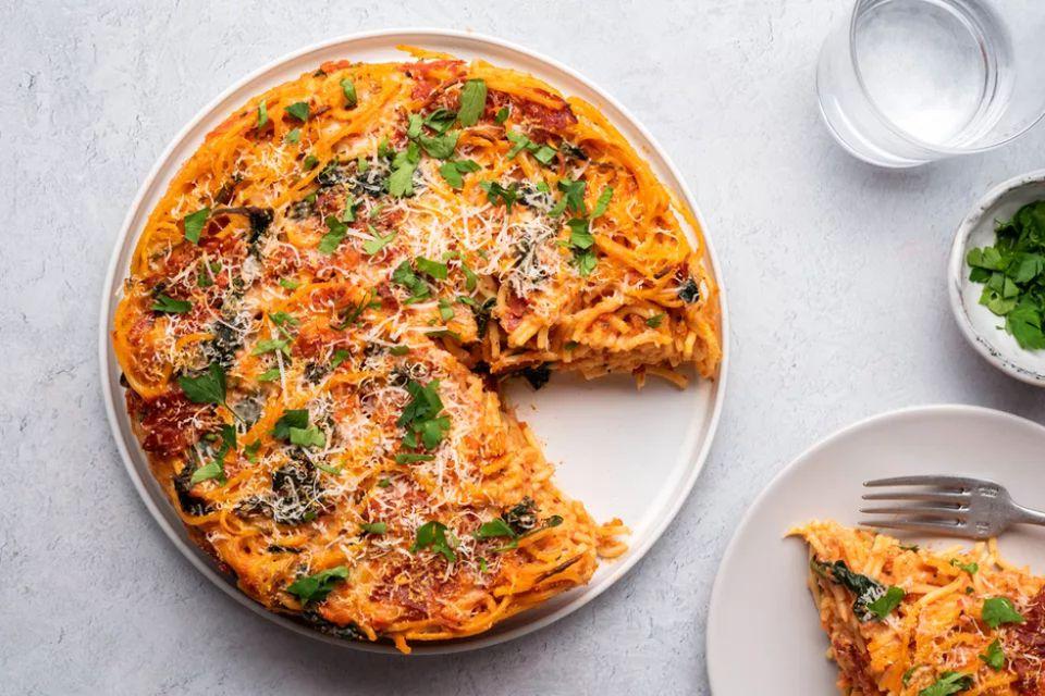 Pizza Spaghetti Pie