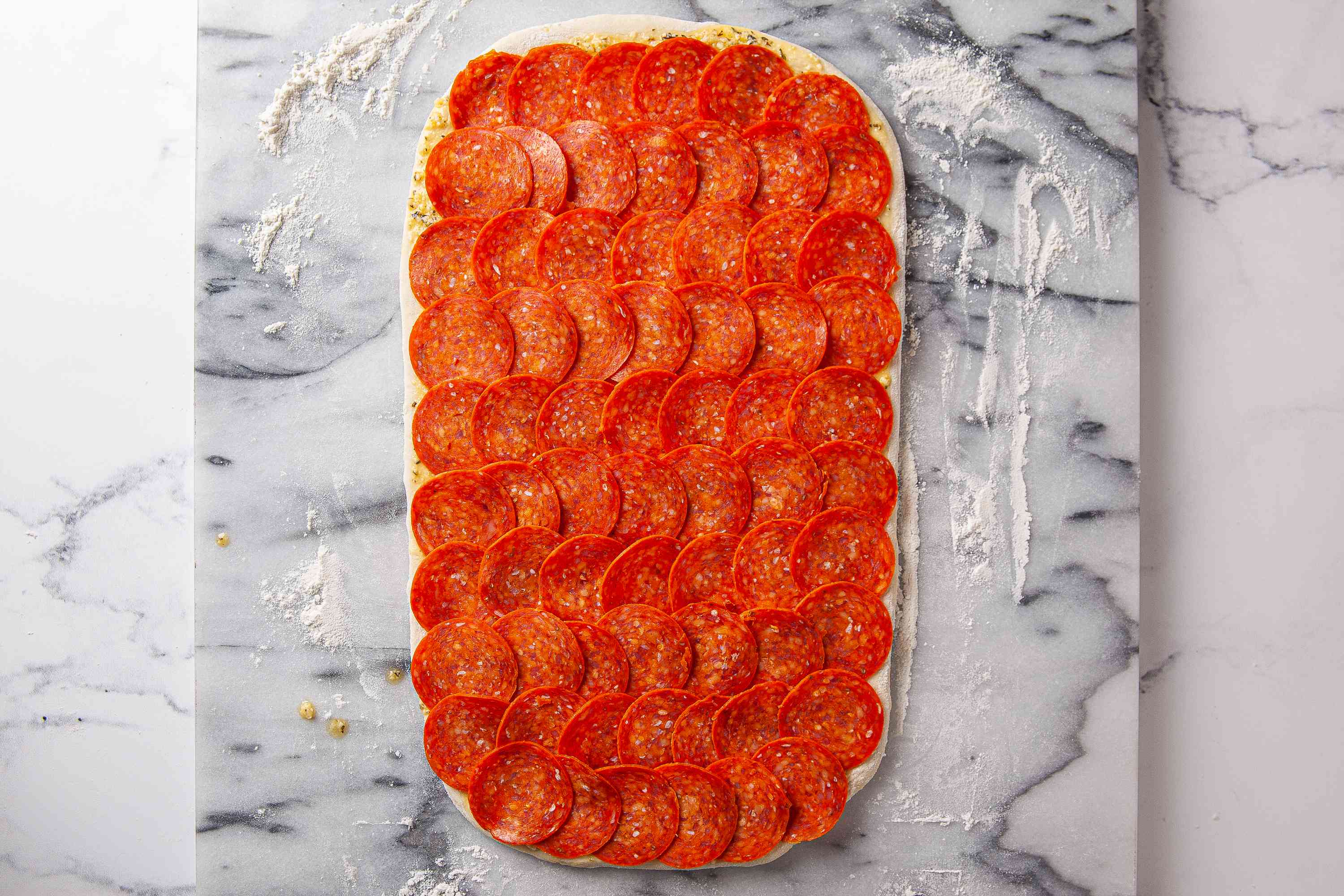 Layer on the pepperoni