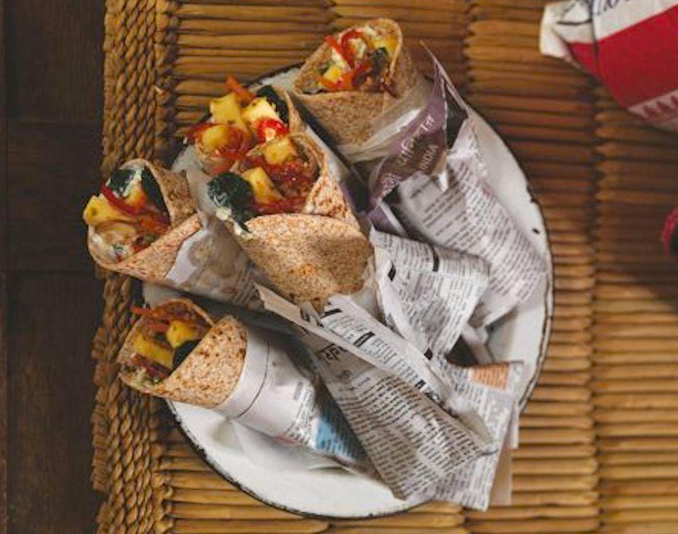 Gordon Ramsay's Spicy Vegetable and Paneer Wraps Recipe