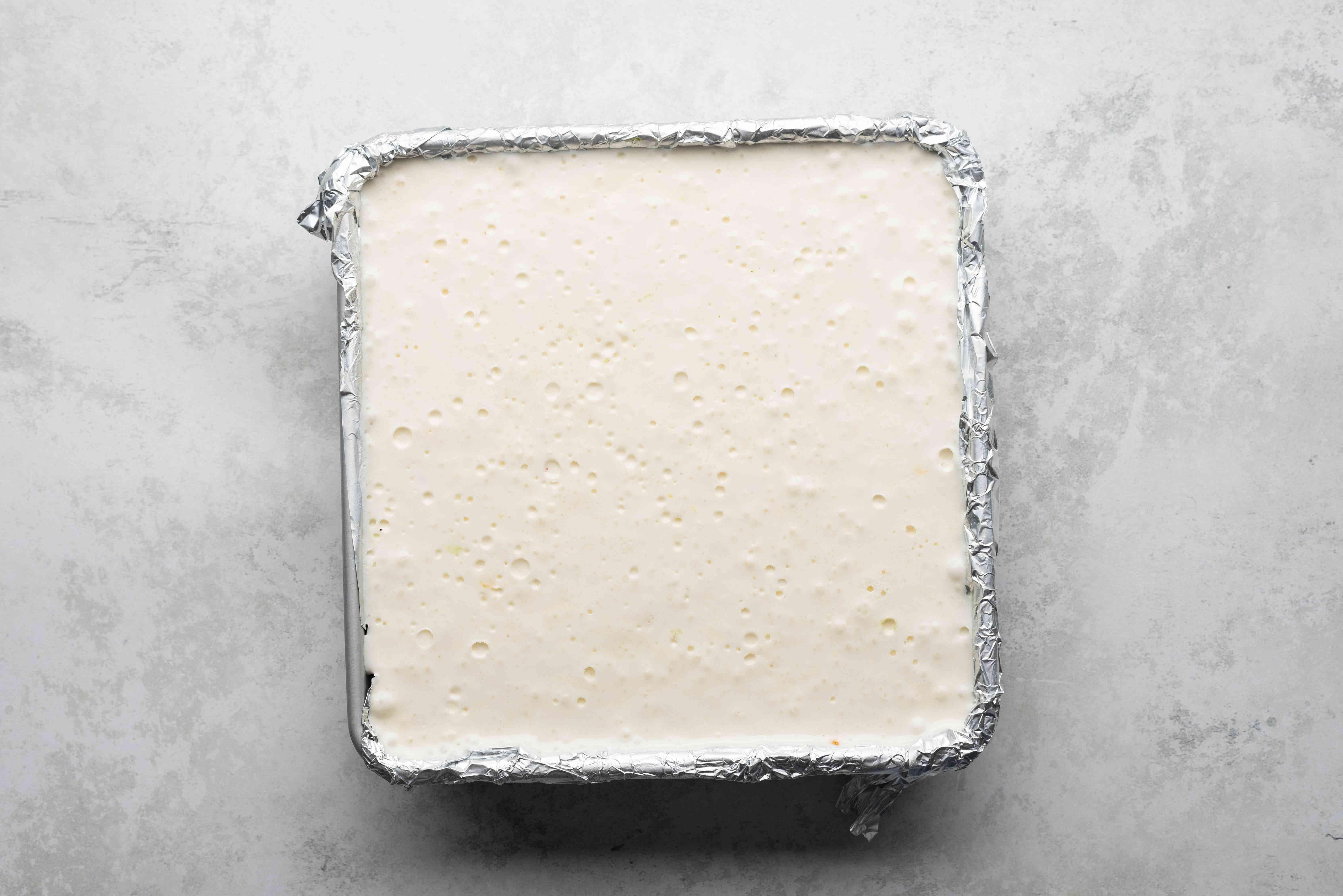 nougat in a baking pan