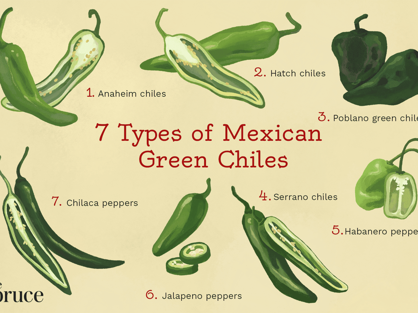 7 Types Of Mexican Green Chiles