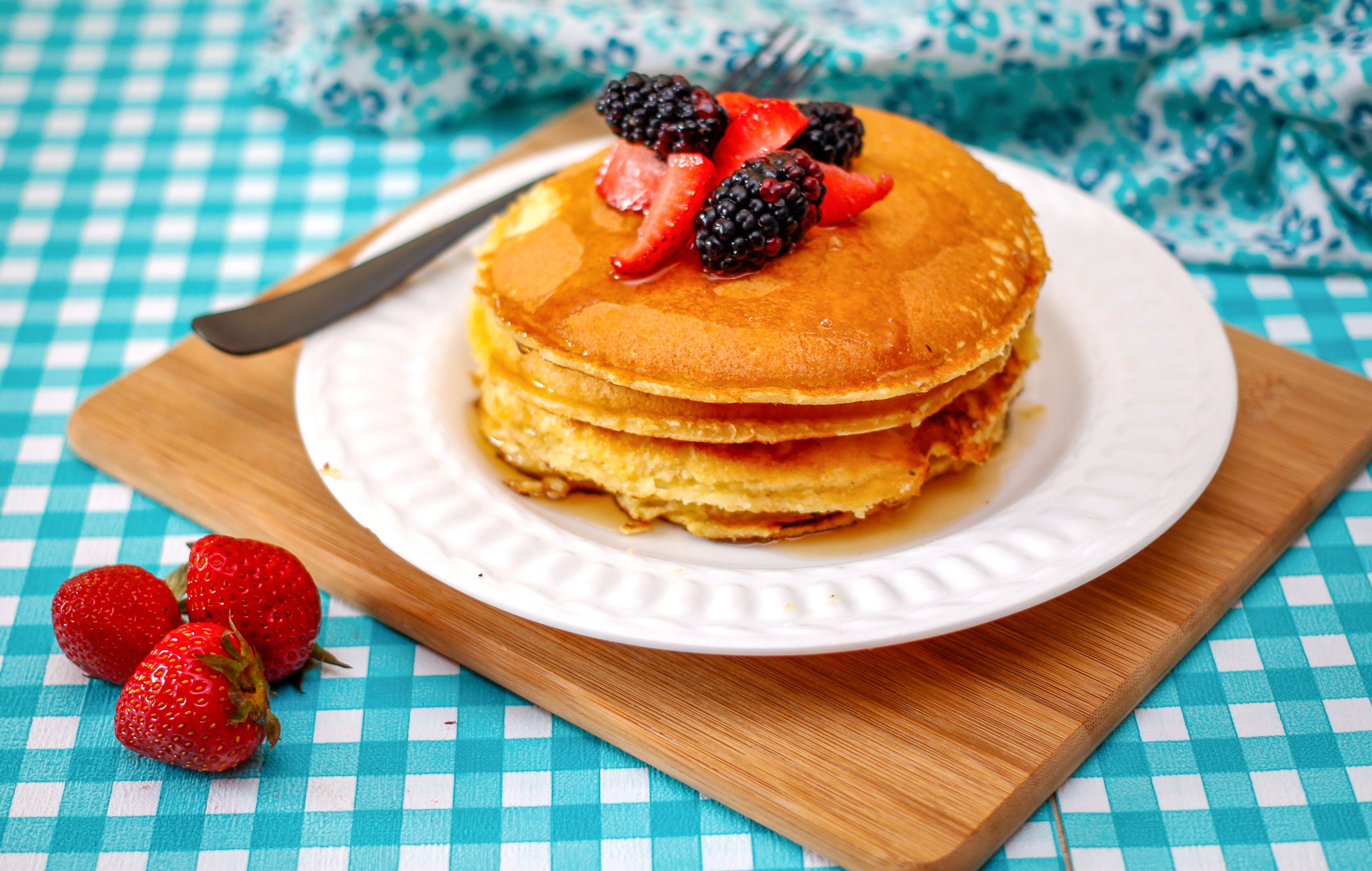 Finished dairy free pancakes