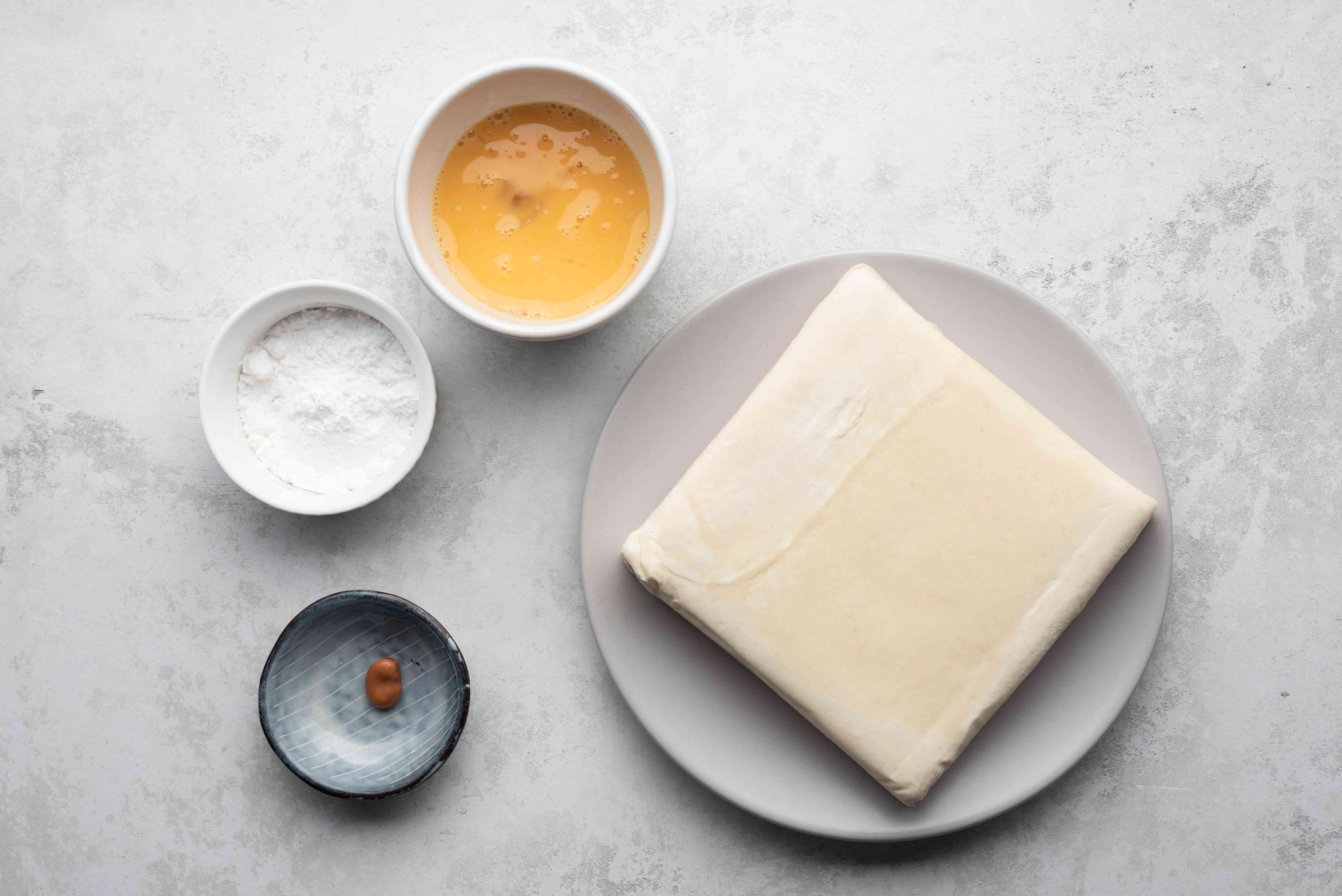 Traditional French Galette des Rois ingredients