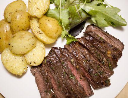 Marinated skirt steak