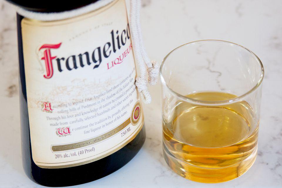 Frangelico Hazelnut bottle and glass