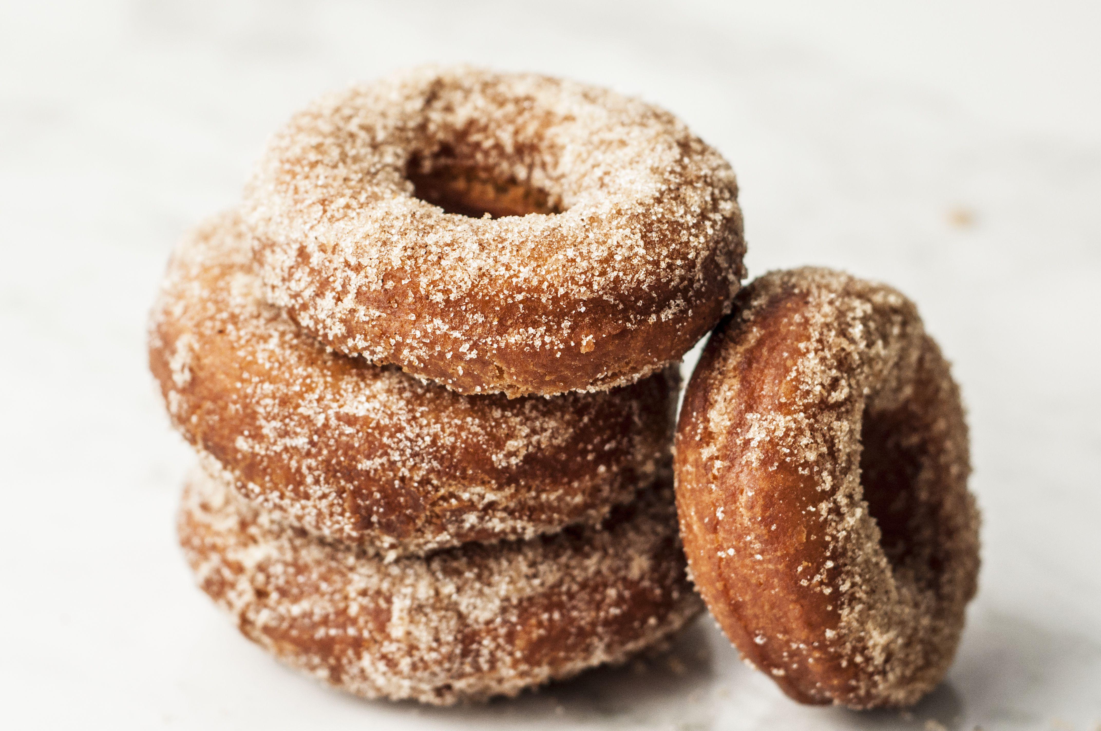 Homemade Plain Cake Doughnuts