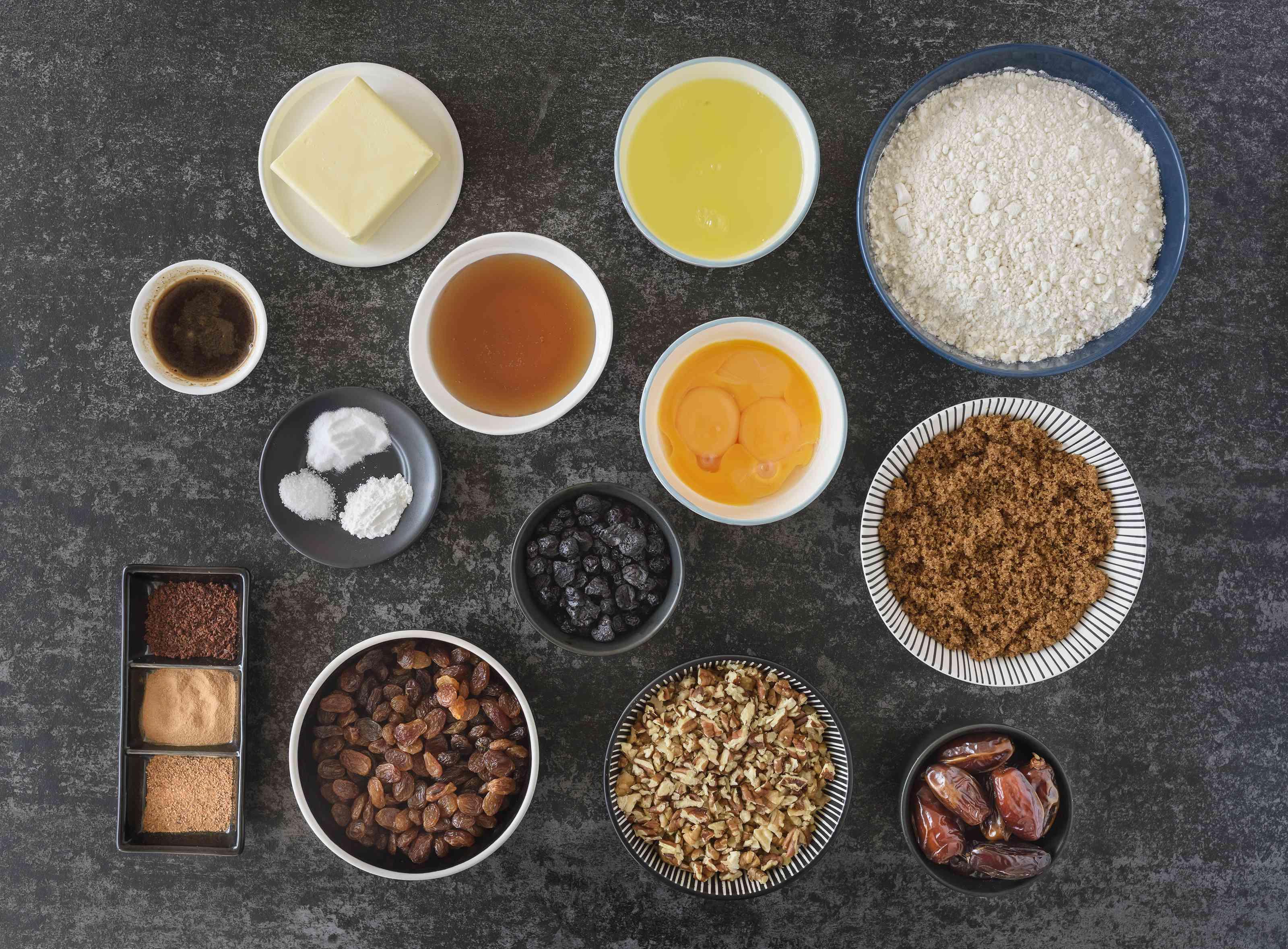 Ingredients for Ukrainian Christmas honey cake