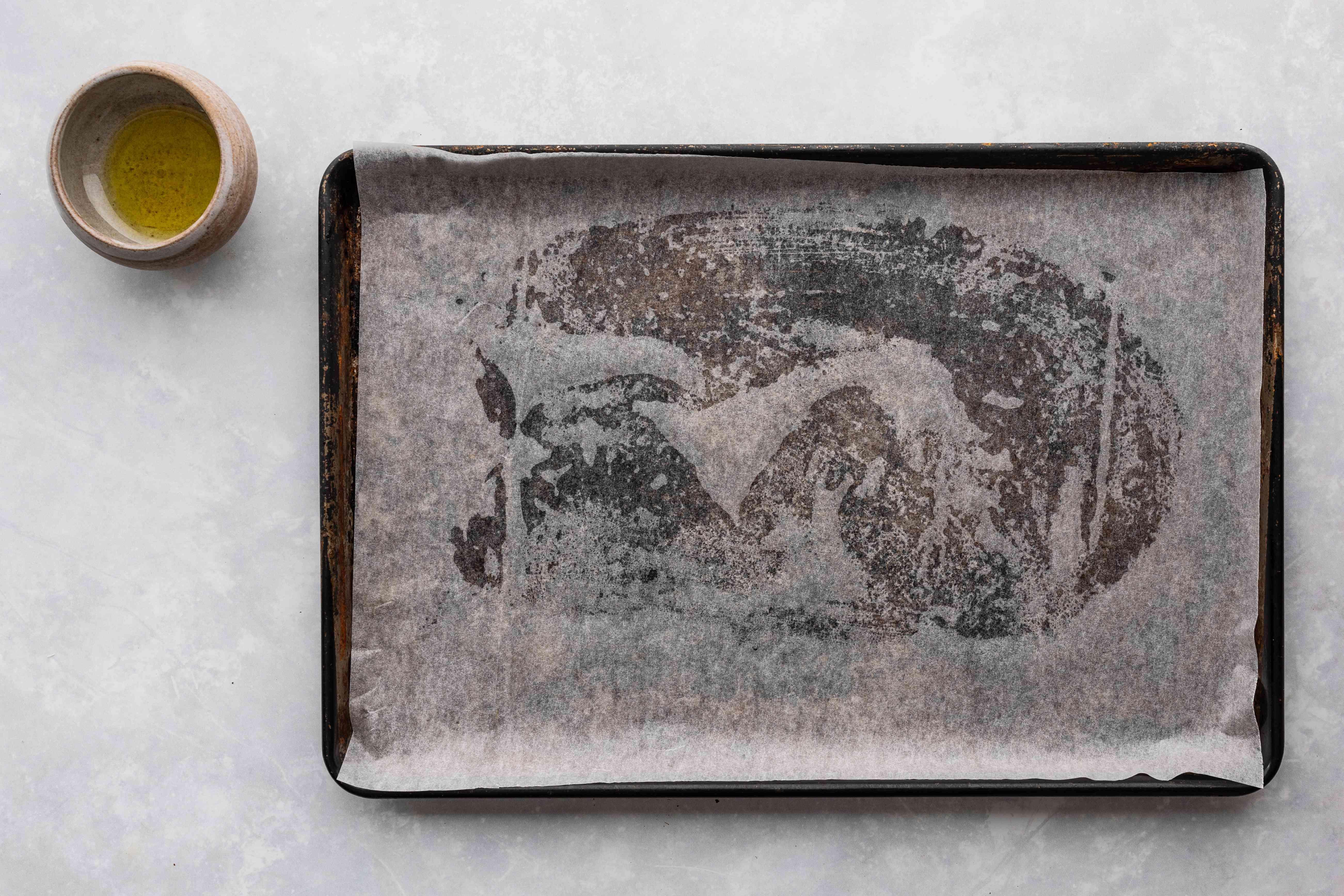 Oil a baking sheet