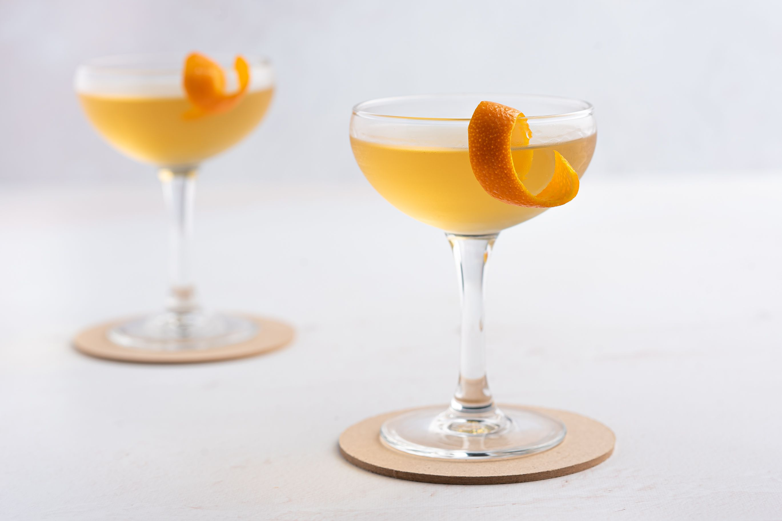 Fancy Whiskey Cocktails in a glasses