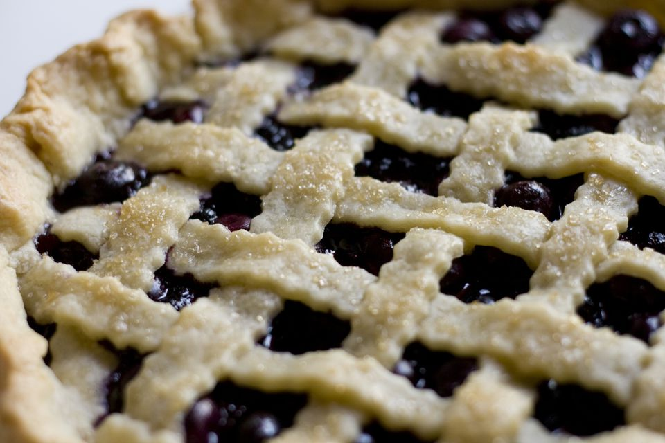 Close up of Blueberry Pie