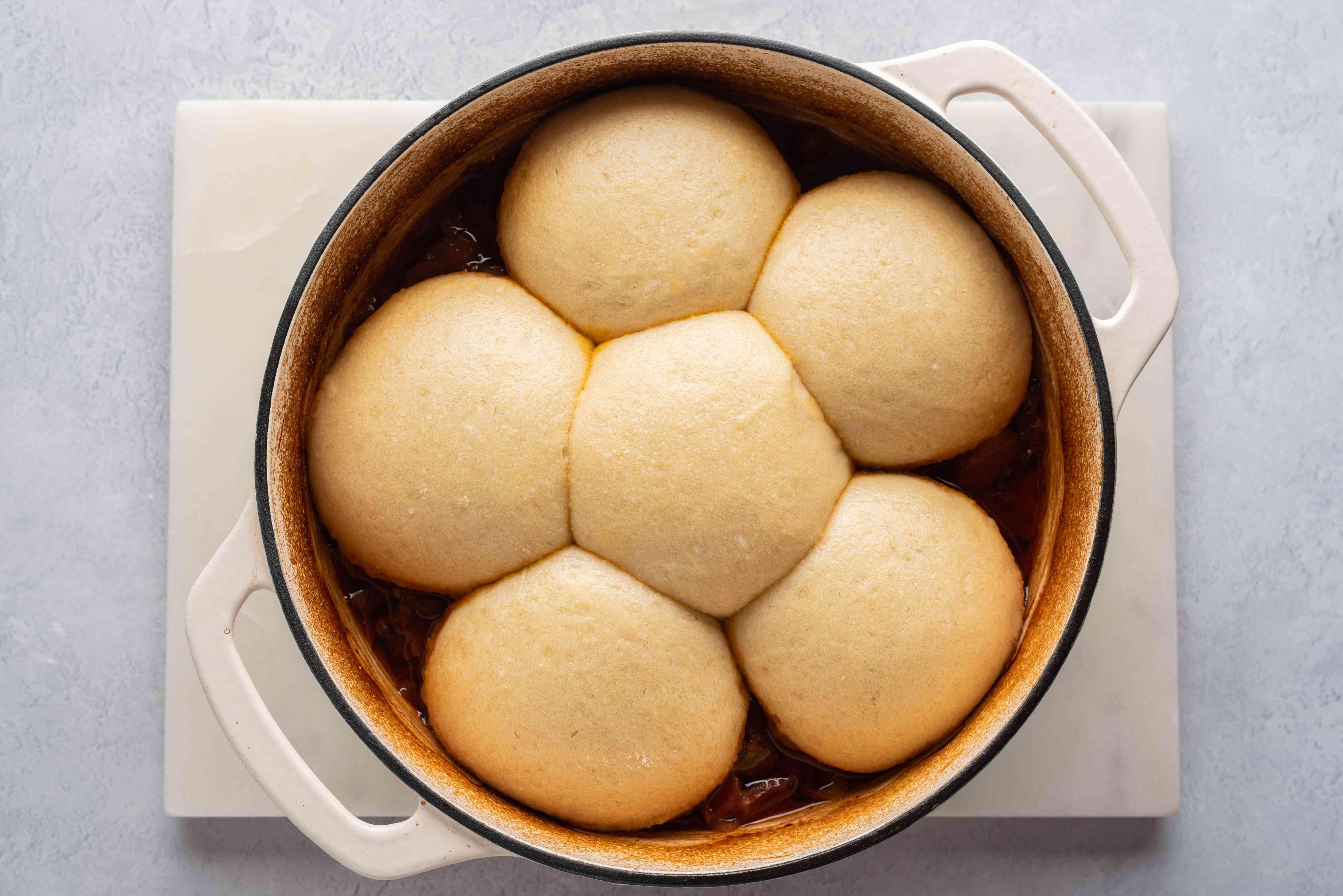 Madombi (Dumplings) in a pot