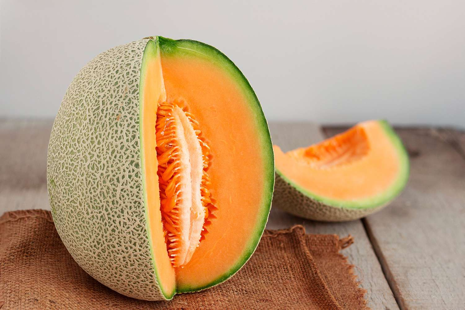 Close-Up Of Cantaloupe On Table