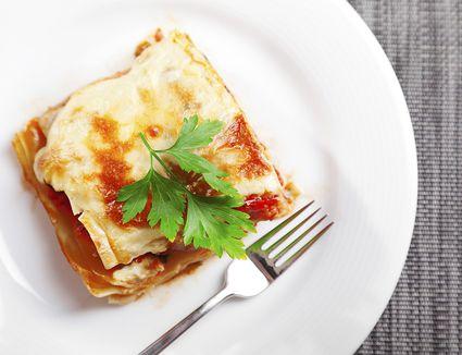 Mozzarella Lasagna square