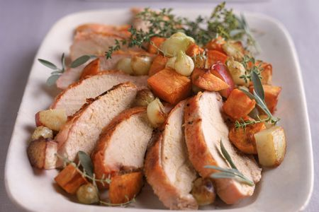 Sliced Pork Roast With Sweet Potatoes