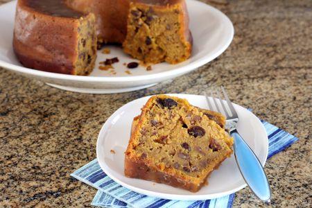 Glazed Sweet Potato Cake With Bourbon and Pecans