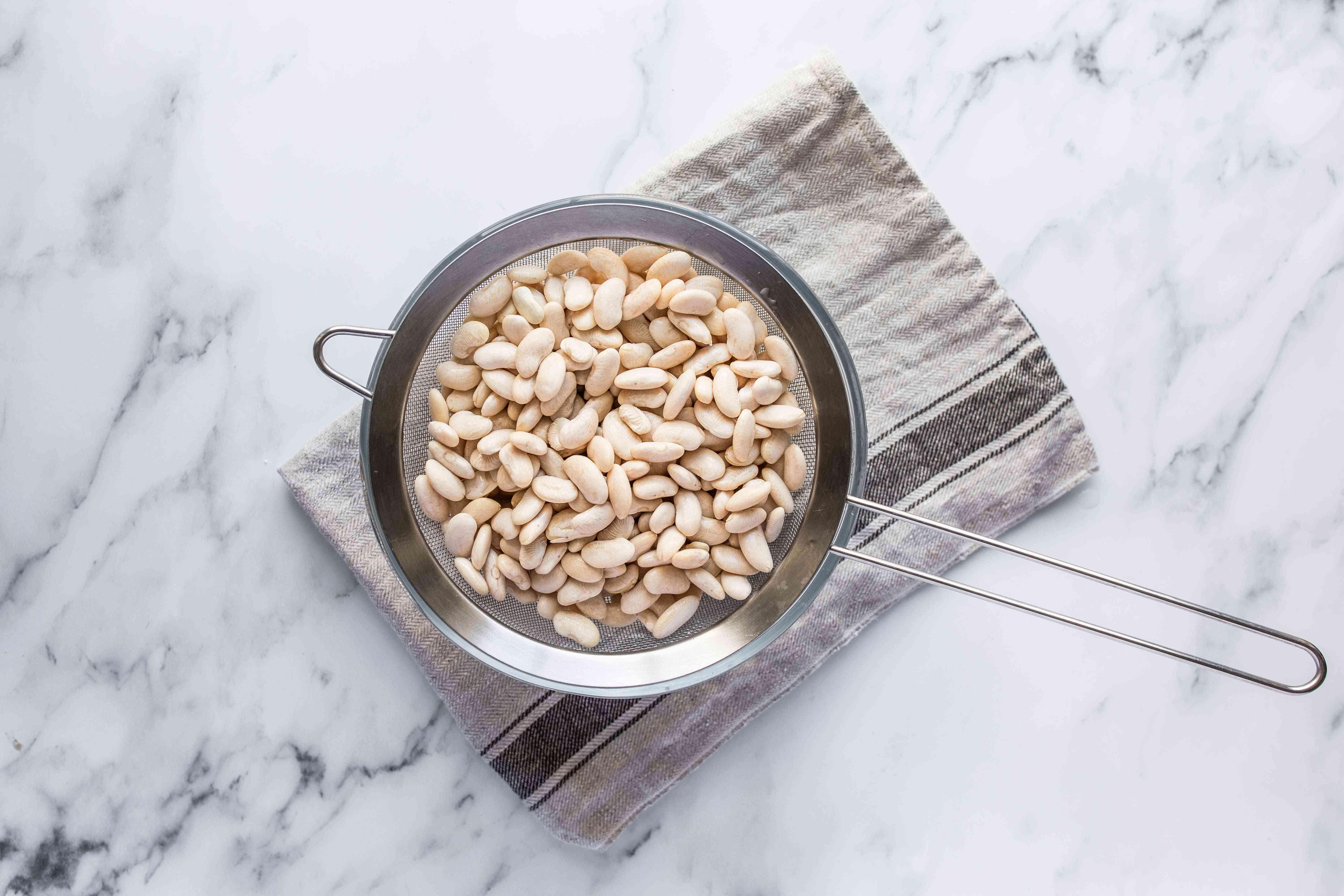 Drain the beans