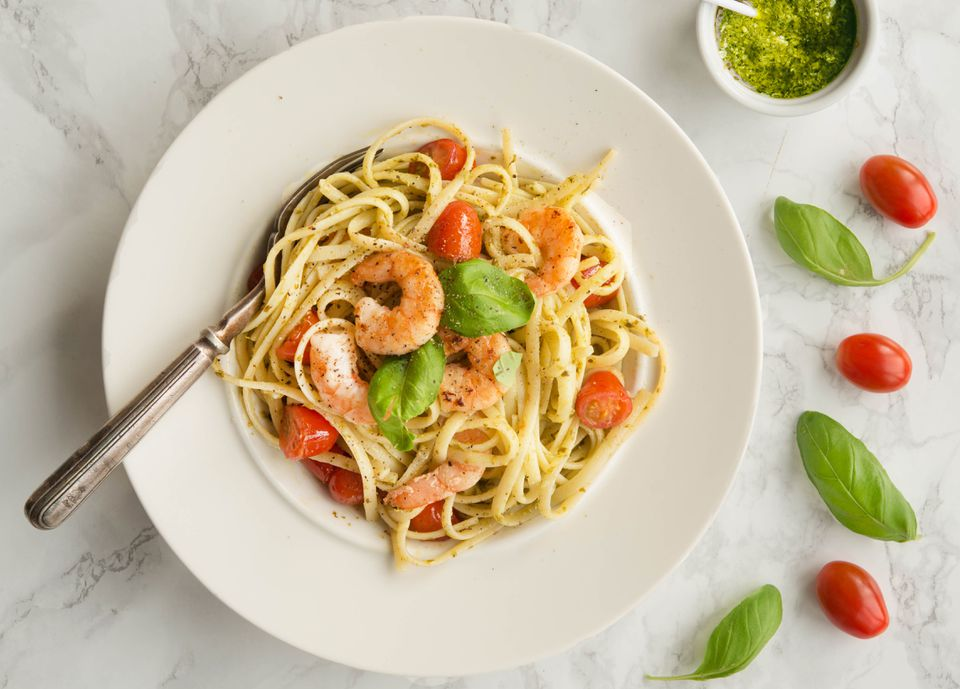 Shrimp and Fresh Pesto Pasta Recipe
