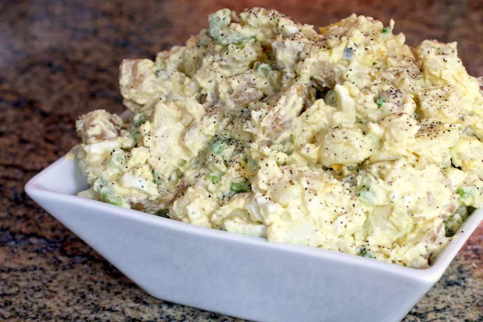 Golden potato salad