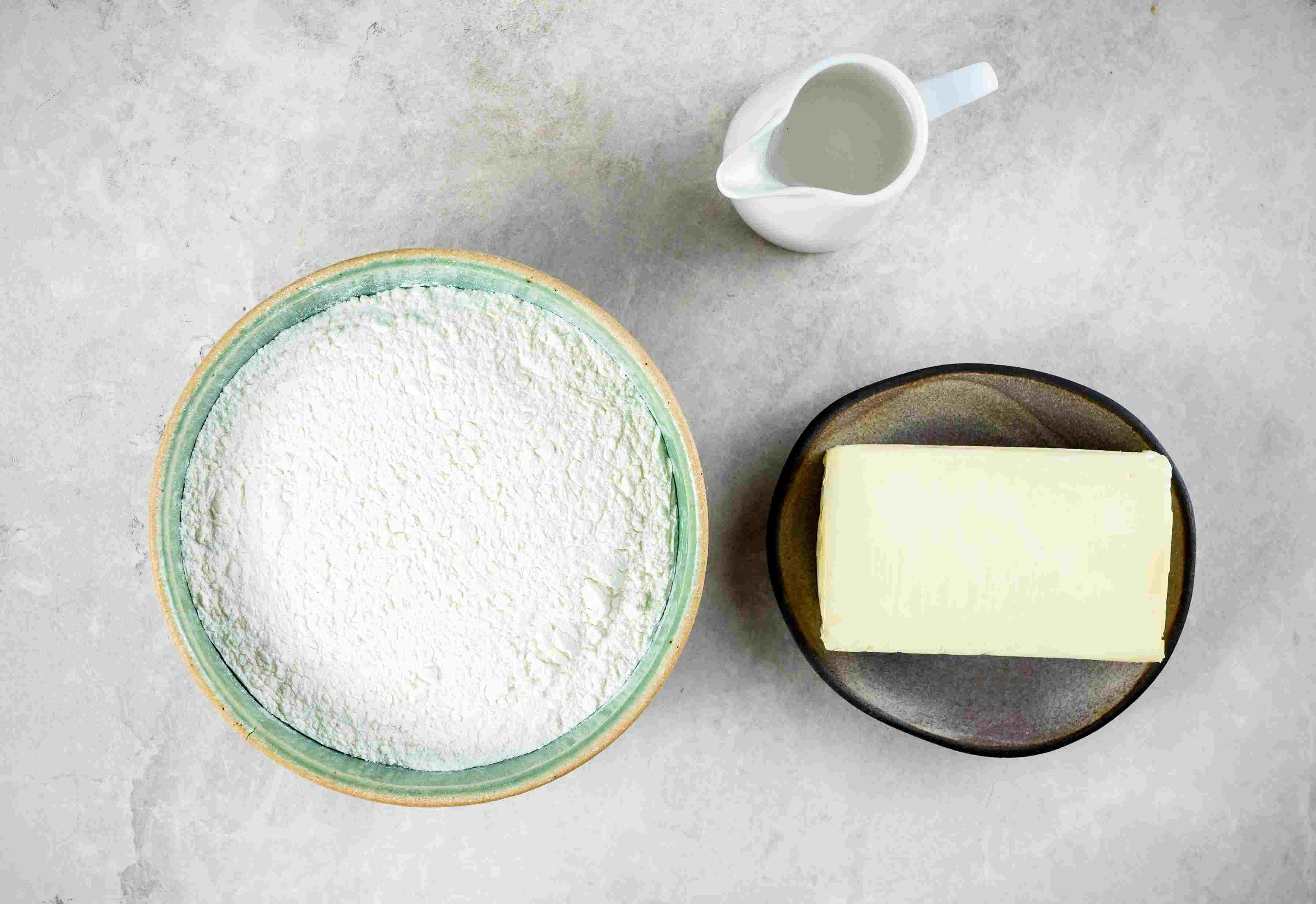Ingredients for gluten-free pie crust