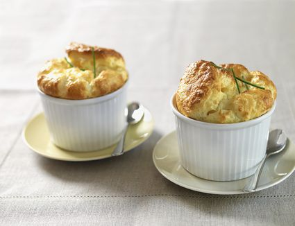 Souffles on white tabletop