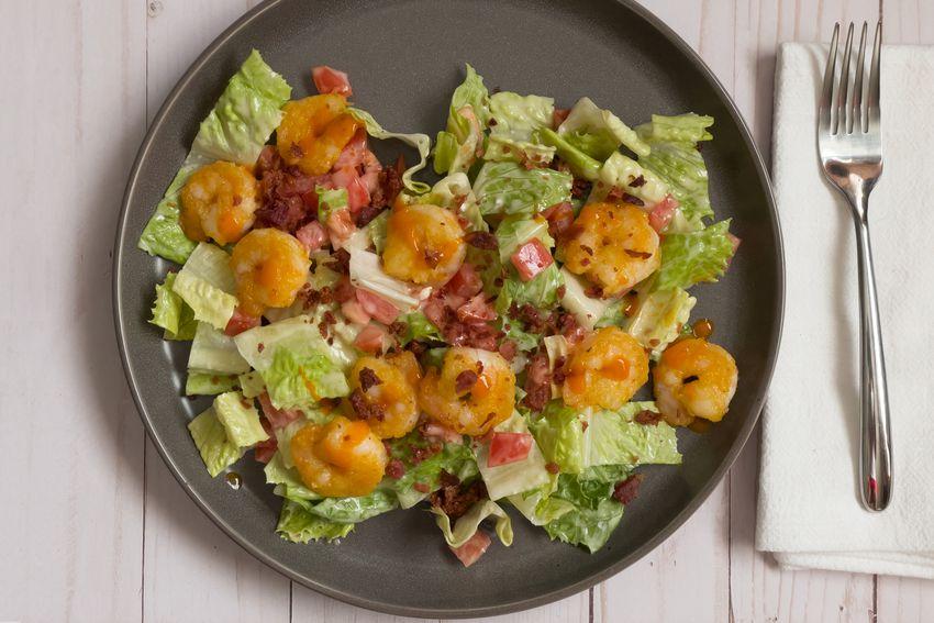 Home Chef salad on plate