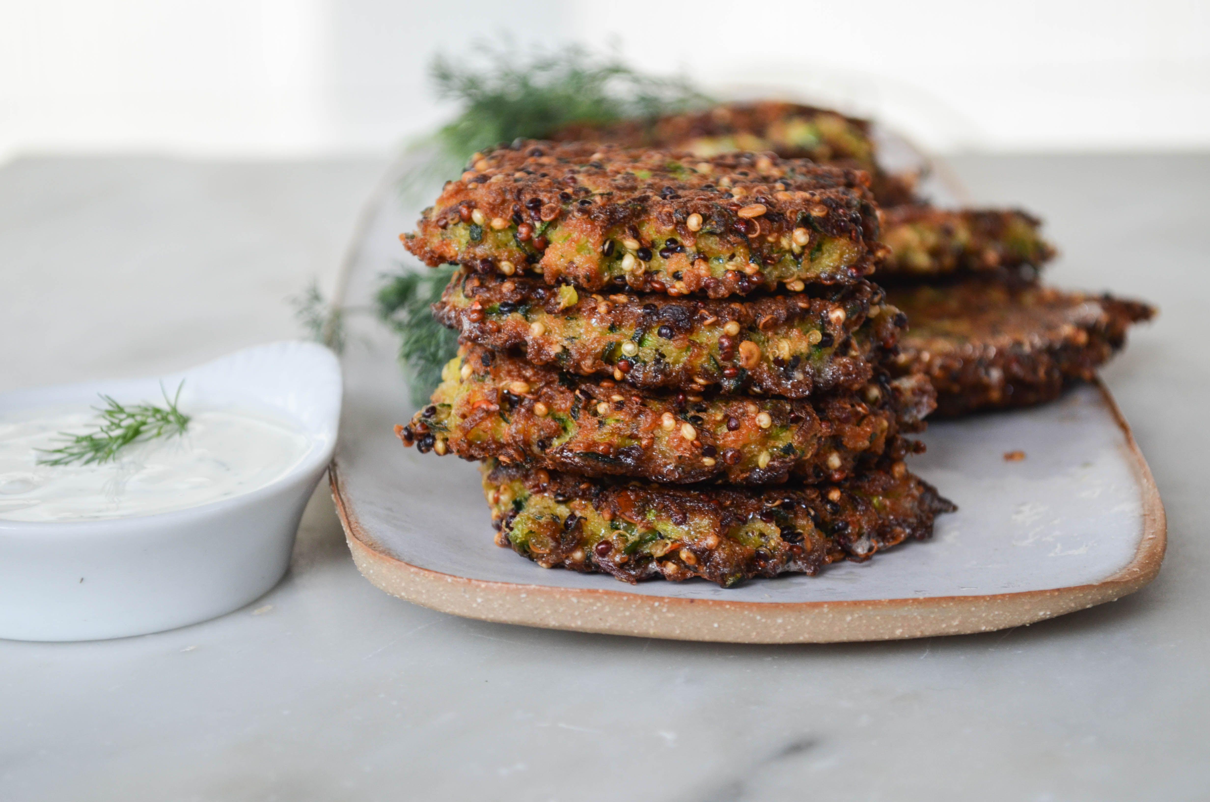 zucchini patties with quinoa recipe