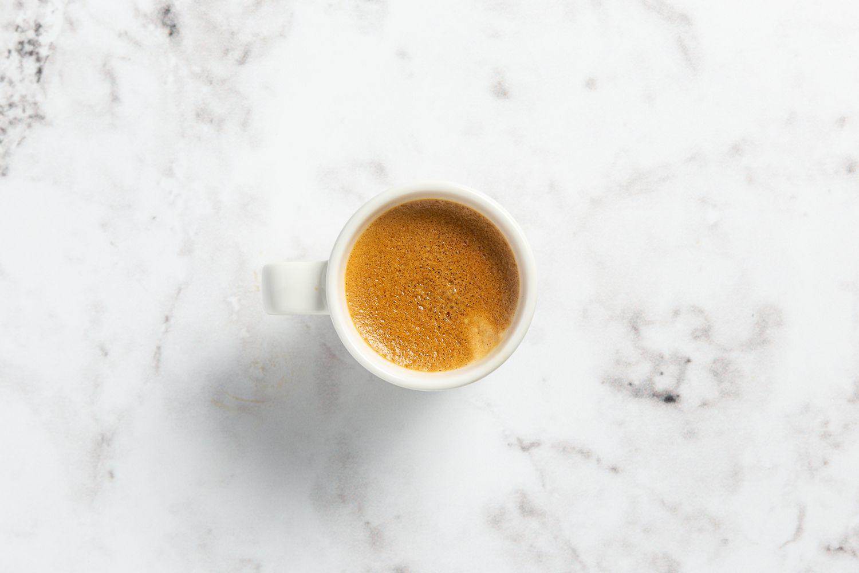 espresso shot on counter