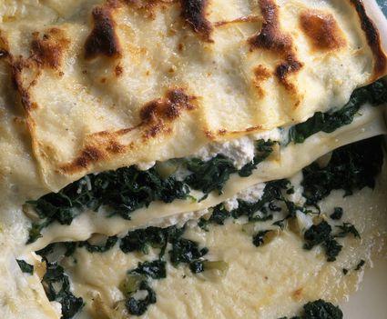 White chicken asparagus lasagna