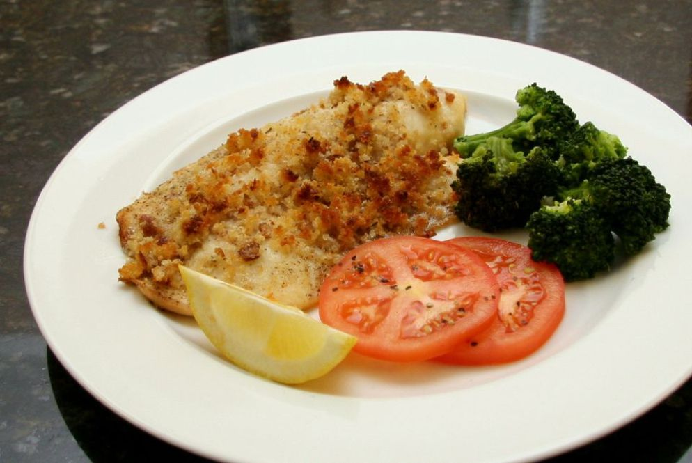 Baked Tilapia With Buttery Crumb Topping