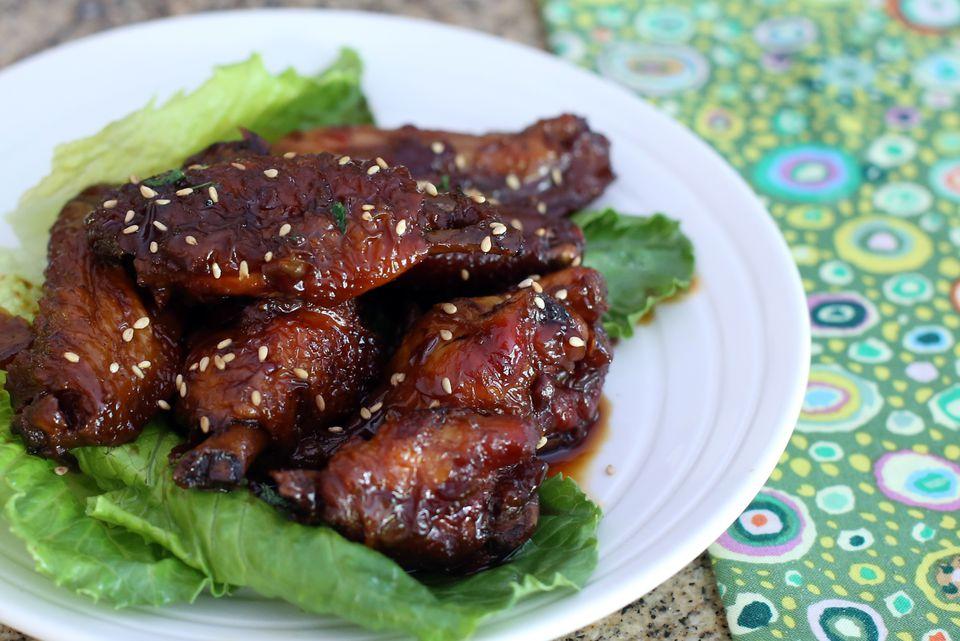 Crockpot teriyaki chicken wings