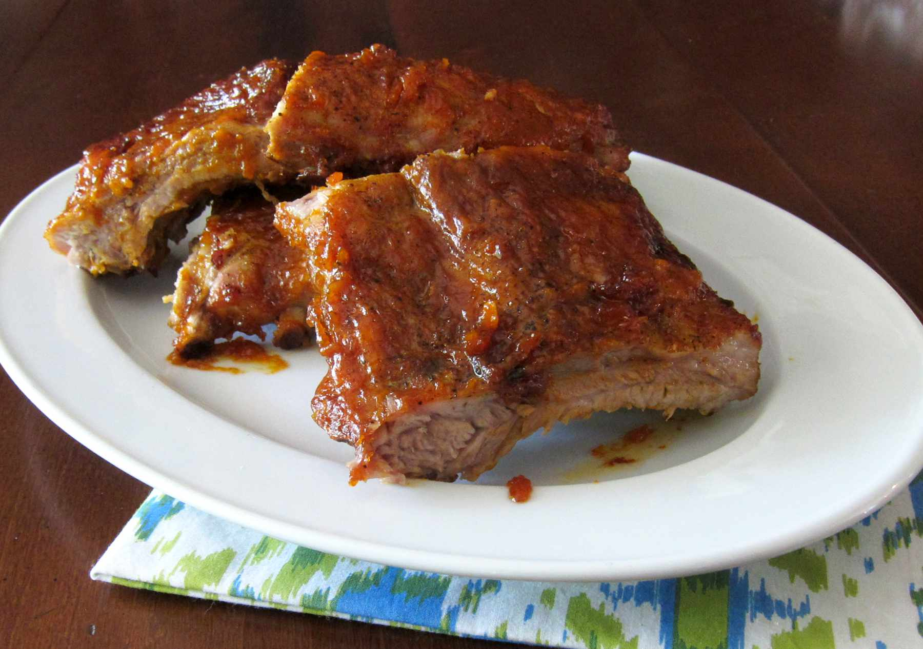 Ribs With Peach Barbecue Sauce