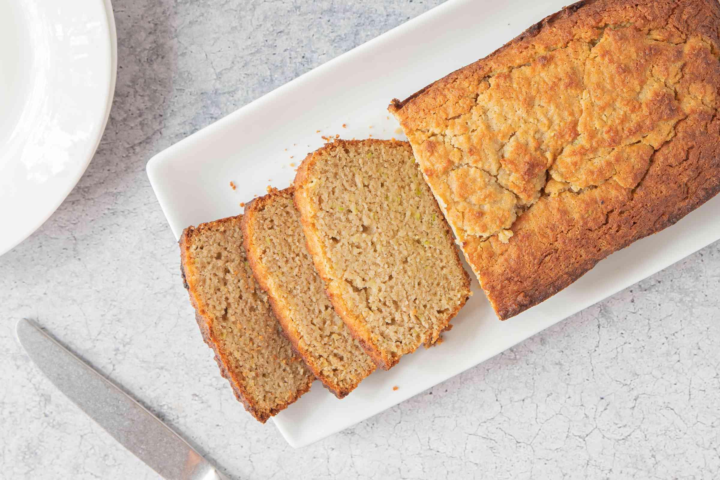 Keto Zucchini Bread slices